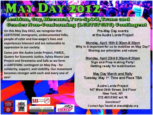 May day 2012 flyer
