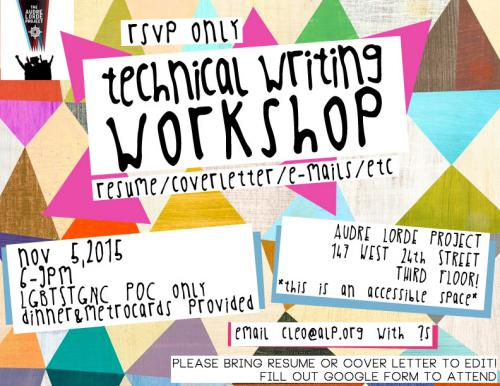 technical writing workshop Technical writing training: a comprehensive hands-on course technical writing training, is a practical hands-on course enabling you with the skills to assess the needs of stakeholders, users and other players to create technical and specifications documents.